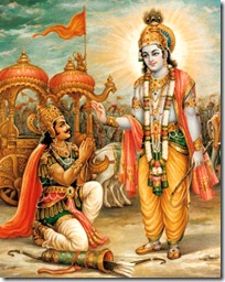 Krishna speaking the Gita