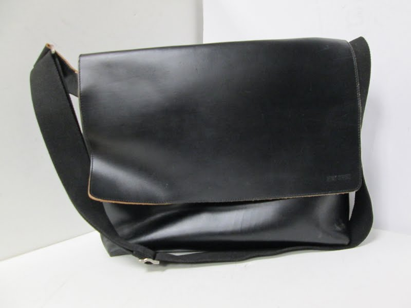 Jack Spade Leather Messenger Bag