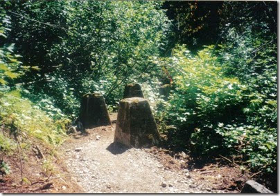 Water Tower Footings at Wellington on the Iron Goat Trail in 2000