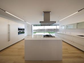 diseño de cocina moderna minimalista blanca