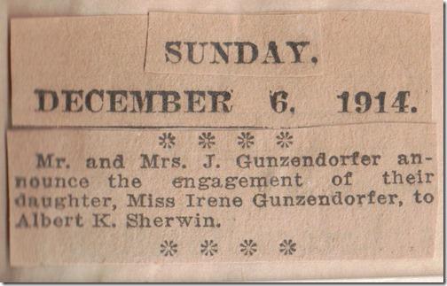 Engagement Sherwin Gunzendorfer