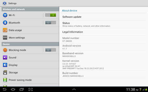 Samsung GALAXY Note 10.1 Android 4.1.1 Jelly Bean Update Philippines 2