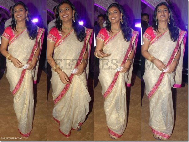 Roja_Off_White_Saree