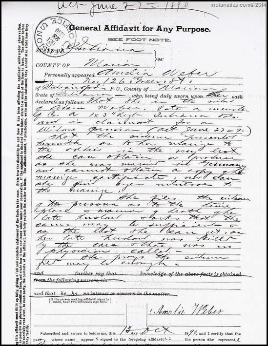 Amelia Weber Pension Affidavit 1