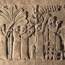 24.- Relieves de Ninive. Asurbanipal con su esposa