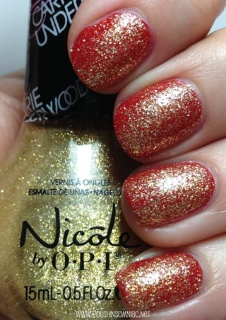 Nicole by OPI Carrie'd Away over American As Apple Pie