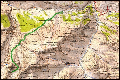 Mapa Via Directa de Los Martinez 250m D- V- (Picu Urriellu, Picos de Europa)