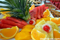 Fresh sliced fruits served at The Swiss Deli Restaurant
