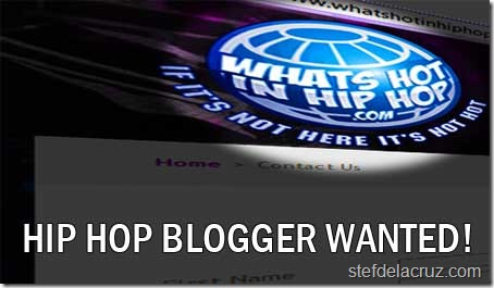 Hip hop blogger wanted