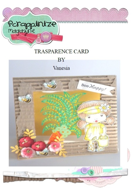 Vanesia - trasparence card - tutorial step by step