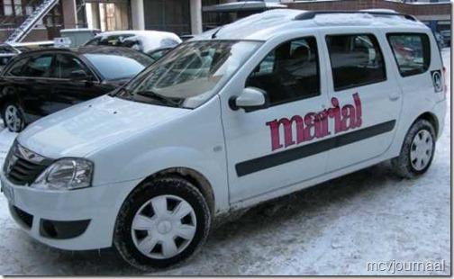 Dacia Logan MCV in de sneeuw 05