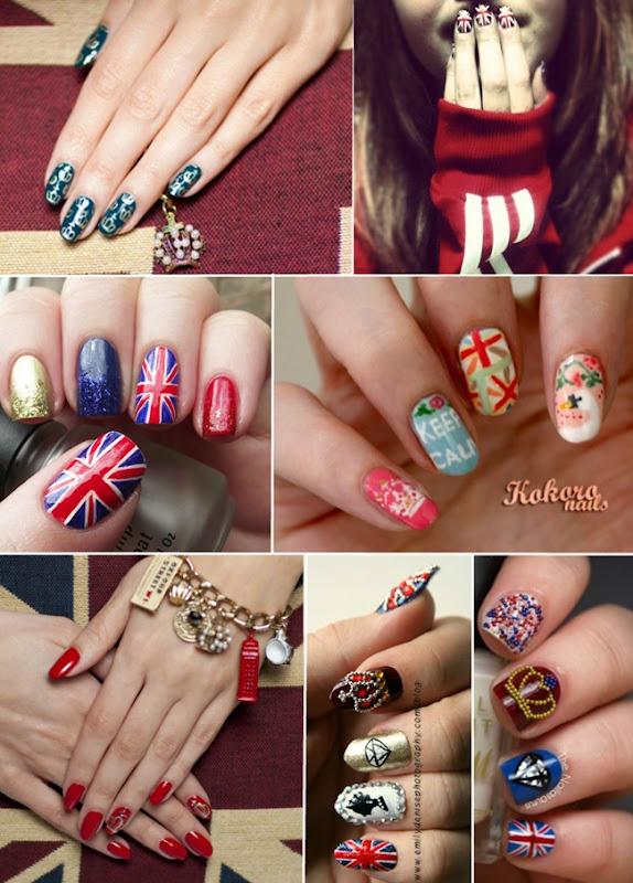nail art jubileu rainha elizabeth unhas artisticas inspiradas