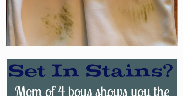 how to remove set in sweat stains