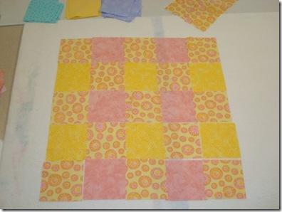 first quilt design