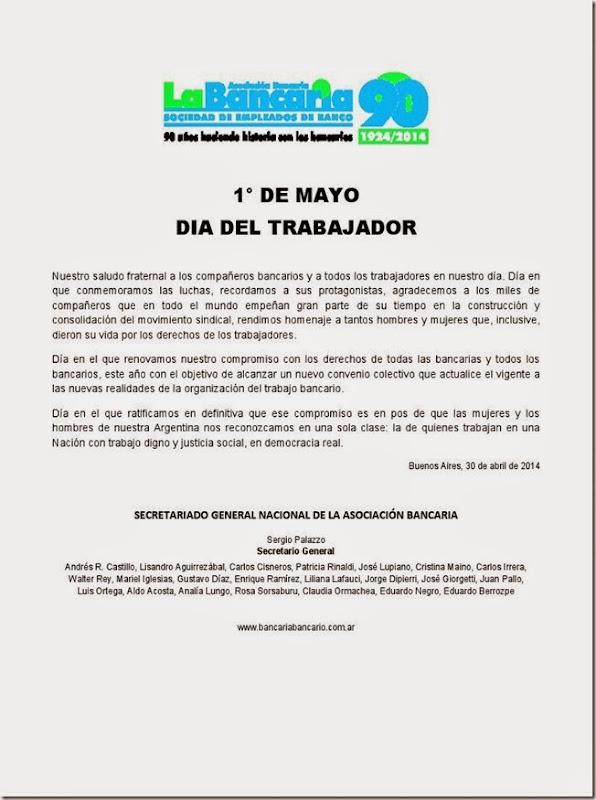 Asociacion Bancaria Chivilcoy: abril 2014
