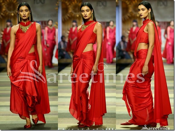 Tarun_Tahiliani_Red_Sari