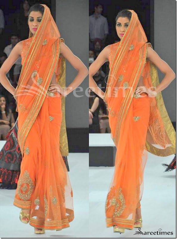 Shantanu_Nikhil_Orange_Shimmer_Saree