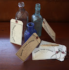 The drink tags and pencils were included in the reception program.