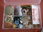 I love Corinne's super sweet sewing kit.