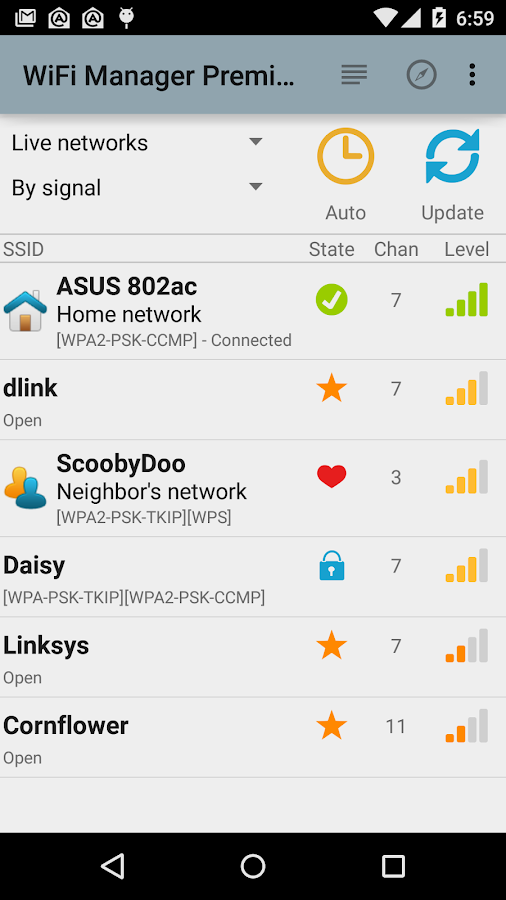 WiFi Manager Screenshot 2