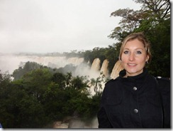 Meg at the Iguzu Falls
