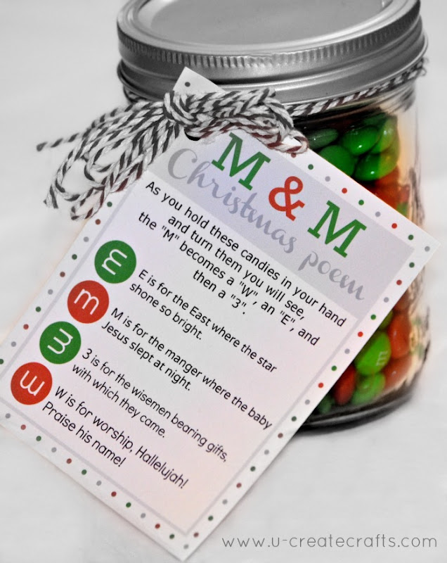 M&amp;M Christmas Poem Free Printable