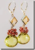 Citrine and Garnet Fantasy Drop Earrings
