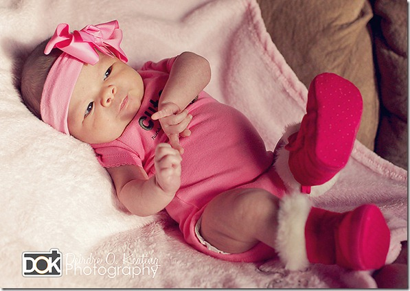 moab newborn with pink boots by Deirdre O. Keating