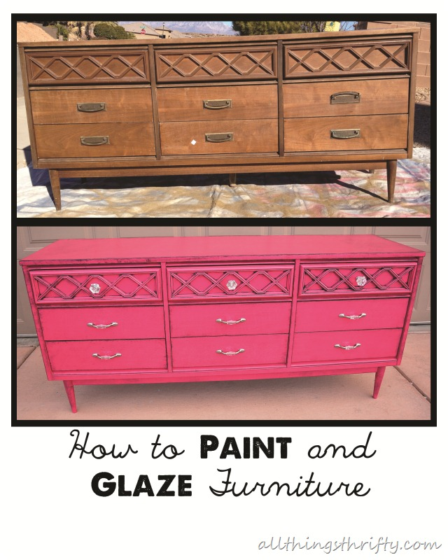 Painting Furniture is SUPER easy and can save you lots and lots of $$
