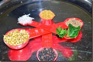 Ingredients for Rasam Powder