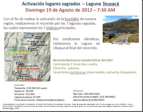 Laguna Teusaca domingo 19 08 2012