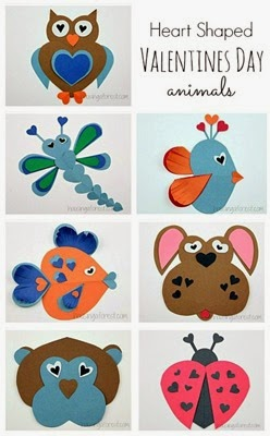 Heart-Shaped-Animals-Valentine-Craft-Ideas