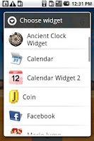 Screenshot of Ancient Clock Widget