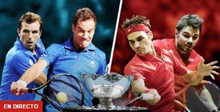 Benneteau y Gasquet vs Federer y Wawrinka