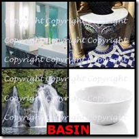 BASIN- 4 Pics 1 Word Answers 3 Letters