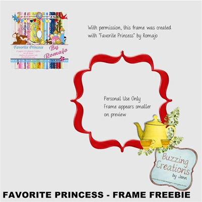 Romajo - Favourite Princess - Frame Freebie Preview