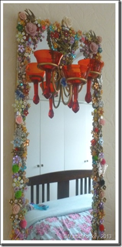 Jewelled Mirrors Upcycled 9