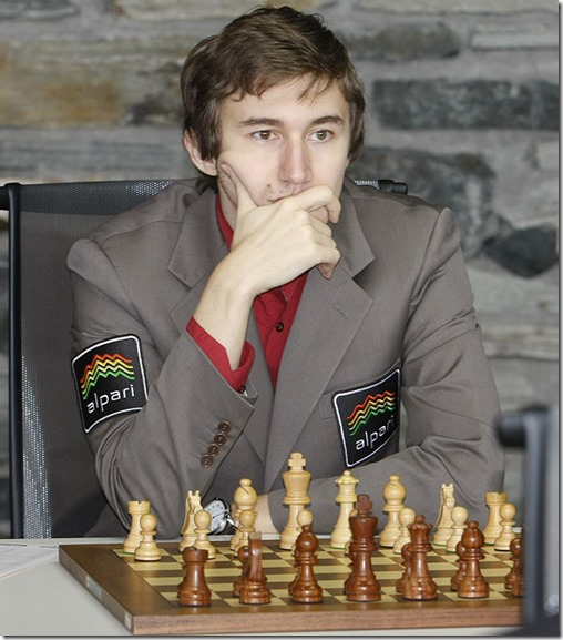 Karjakin Sergey of Russia - Norway Chess 2013
