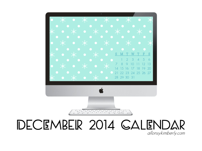December 2014 Desktop Calendar Wallpaper (Free Download) | allonsykimberly.com