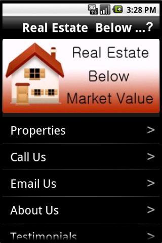 Real Estate Below Market Value