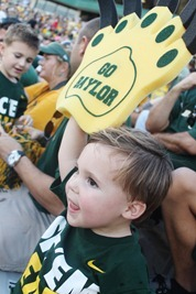 Nash's 1st day of School & Baylor Game 070
