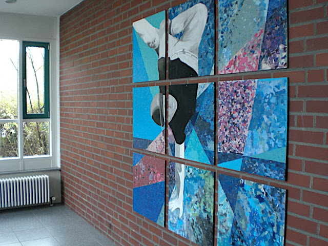 """Breakdancer"" - Collage, Kursprojekt eines Kunstkurses Jahrgang 9"