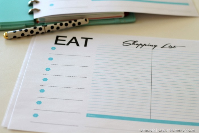 Free Printable Menu Planner & Grocery List via homework (3)