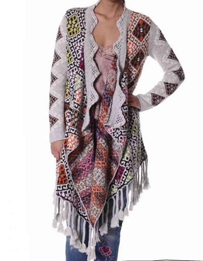 #411 Blueeyes blanket cardigan grey melange