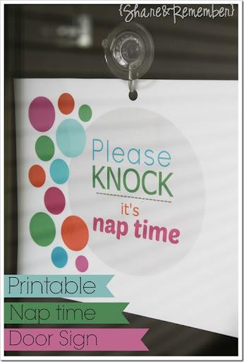 photo about Please Knock Sign Printable titled Make sure you knockits nap season Printable Indication