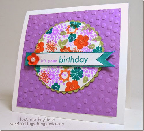 LeAnne Pugliese WeeInklings ColourQ243 Stampin