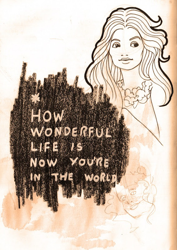 Sketch do dia - how wonderful life is