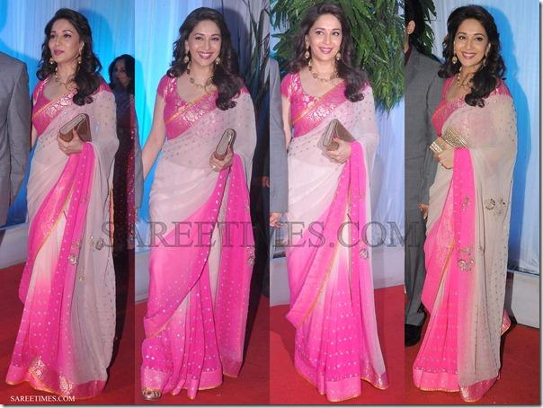 Madhuri_Dixit_Pink_Saree