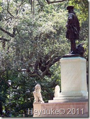 Savannah Statue at a park off of Drayton street