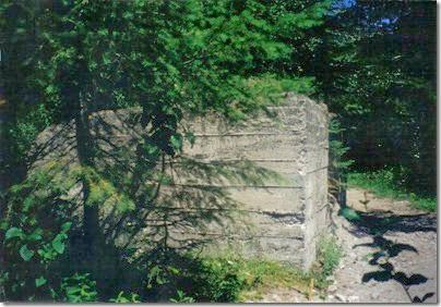Coaling Tower Foundation at Wellington on the Iron Goat Trail in 2000